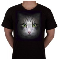 """No 70. Amerika Import Tshirt """"Grijze Kat"""""""