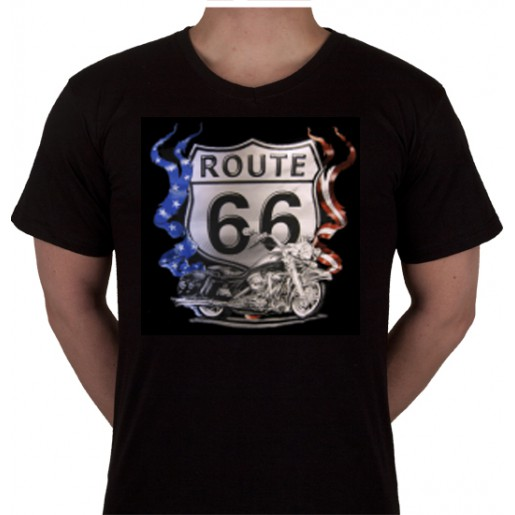 "No 7. Amerika Import Tshirt ""Route 66 Motor"""