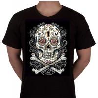 "No 53. Amerika Import Tshirt ""Skelet Bloem"""