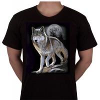 "No 56. Amerika Import Tshirt ""Grijze Wolf"""