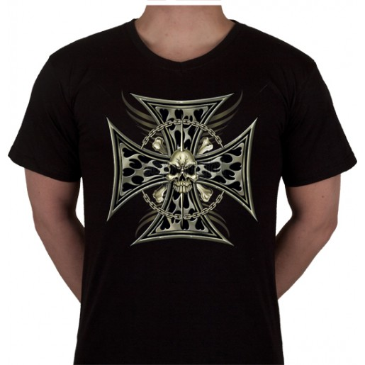 """No 8. Amerika Import Tshirt """"Kruis"""""""