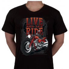 "No 19. Amerika Import Tshirt ""Live and let ride"""