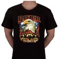 """No 22. Amerika Import Tshirt """"Biker till I die"""""""